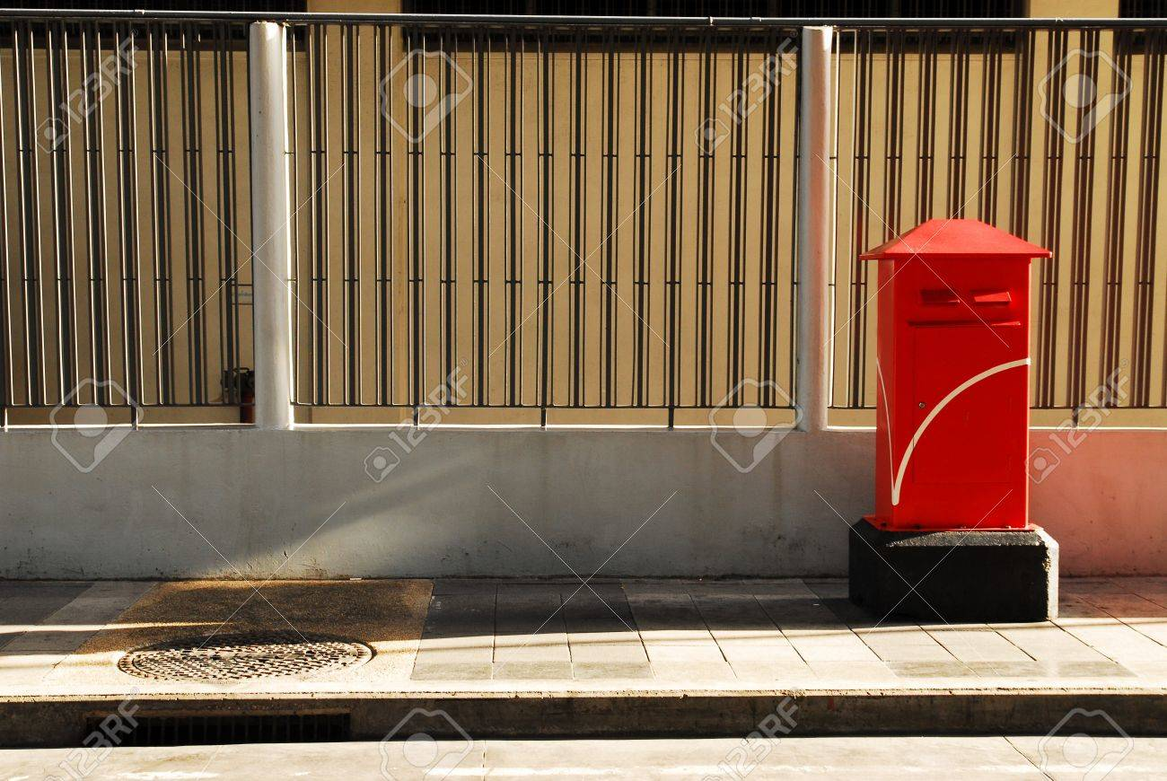 Thailand red post box Stock Photo - 6958485