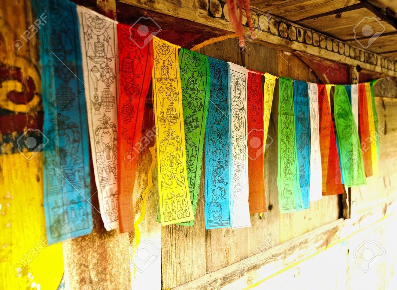 prayer flags Stock Photo - 10397722