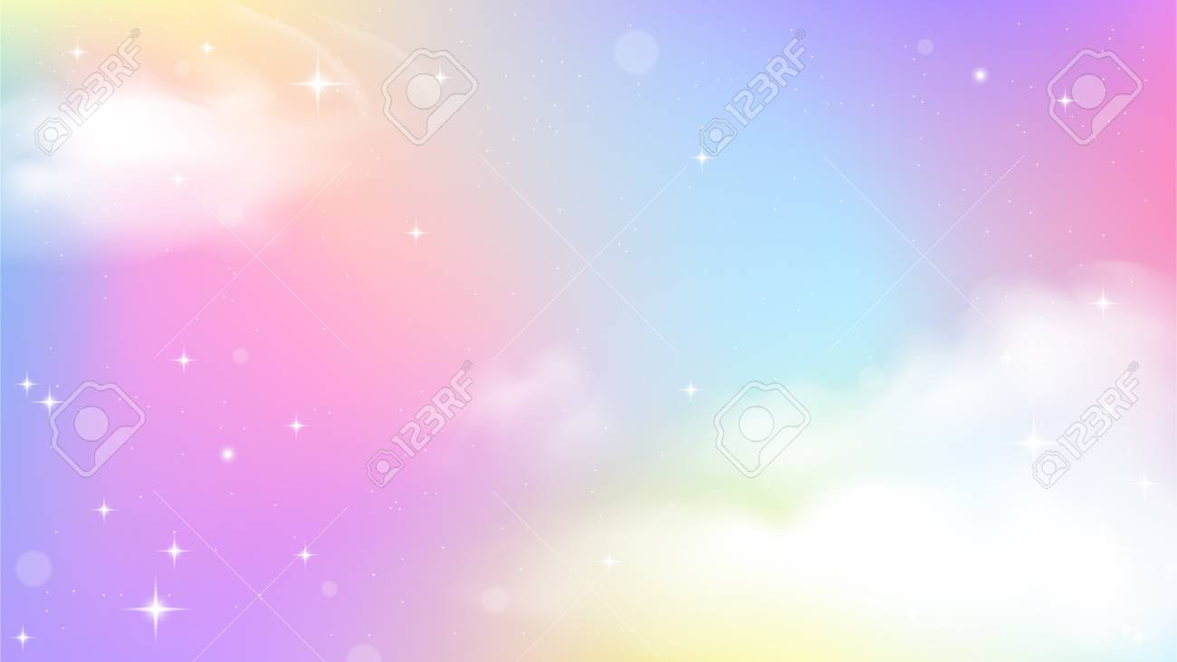 Unicorn Sky Colorful Gradient, Unicorn Gradient background colorful. - 109849634