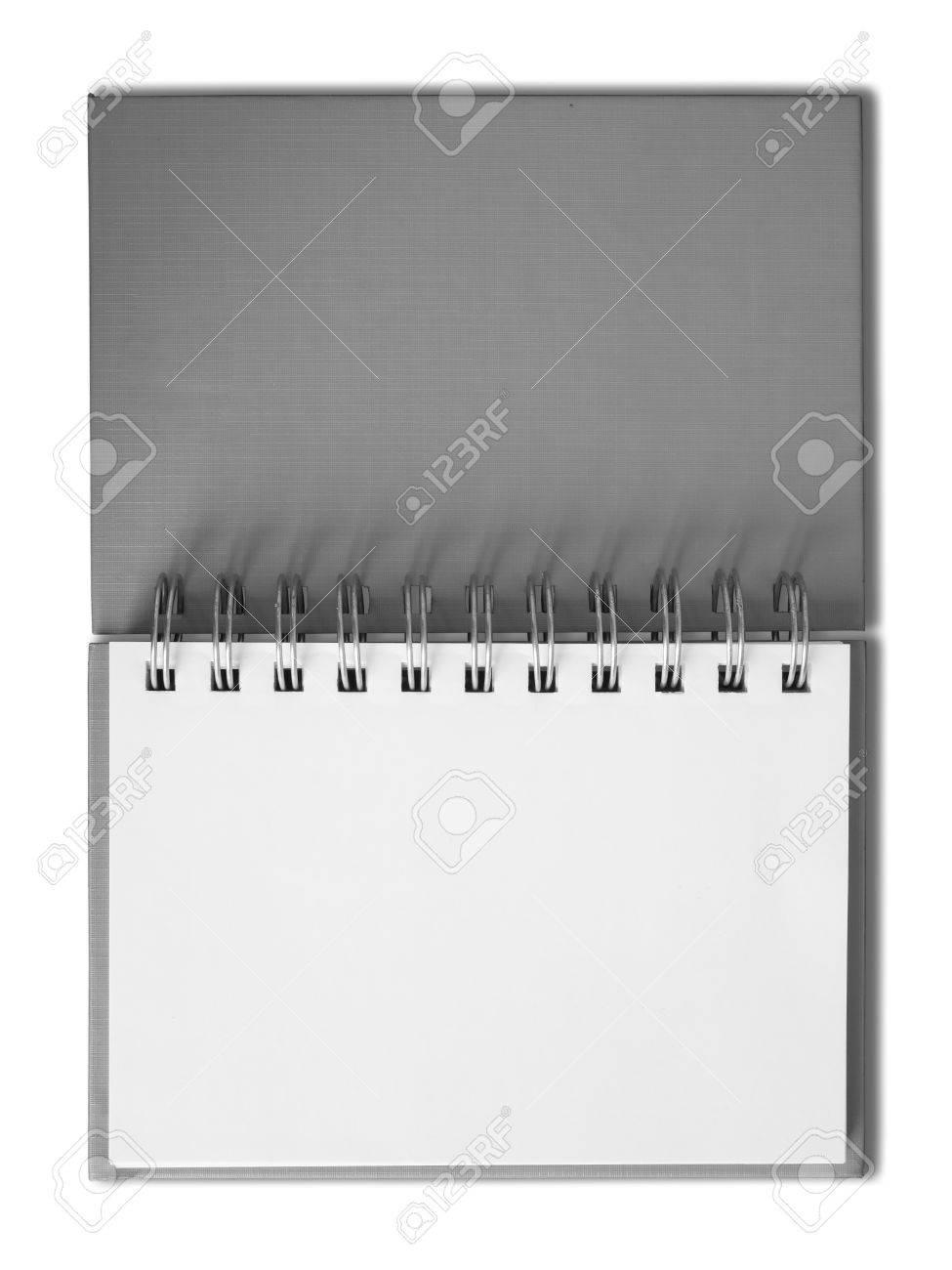 Notebook horizontal single blank page Stock Photo - 7213199