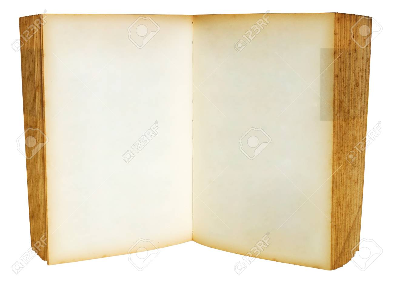 Old book open blank two page for web page Stock Photo - 7213196