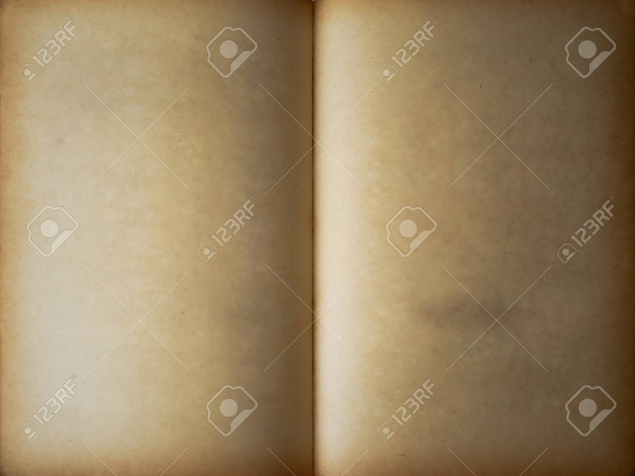 Full frame open old book two face Stock Photo - 7701859