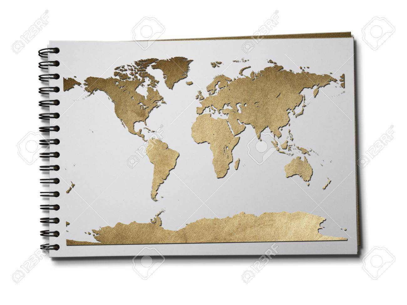 Old brown paper world map on sketch book stock photo picture and old brown paper world map on sketch book stock photo 9261128 gumiabroncs Images