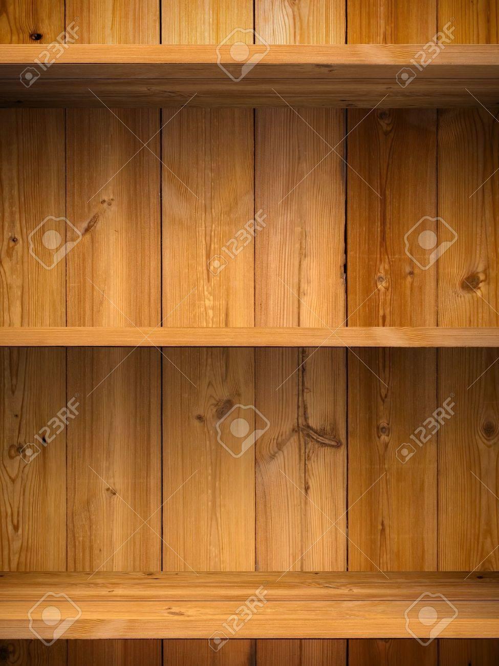 Empty wood shelf on wooden wall Stock Photo - 9438774