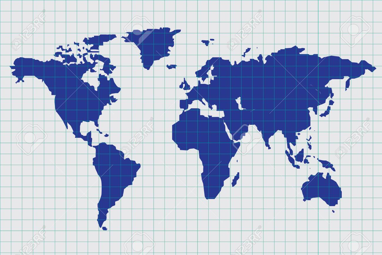 Vector of blue print world map royalty free cliparts vectors and vector of blue print world map stock vector 29228924 gumiabroncs Gallery