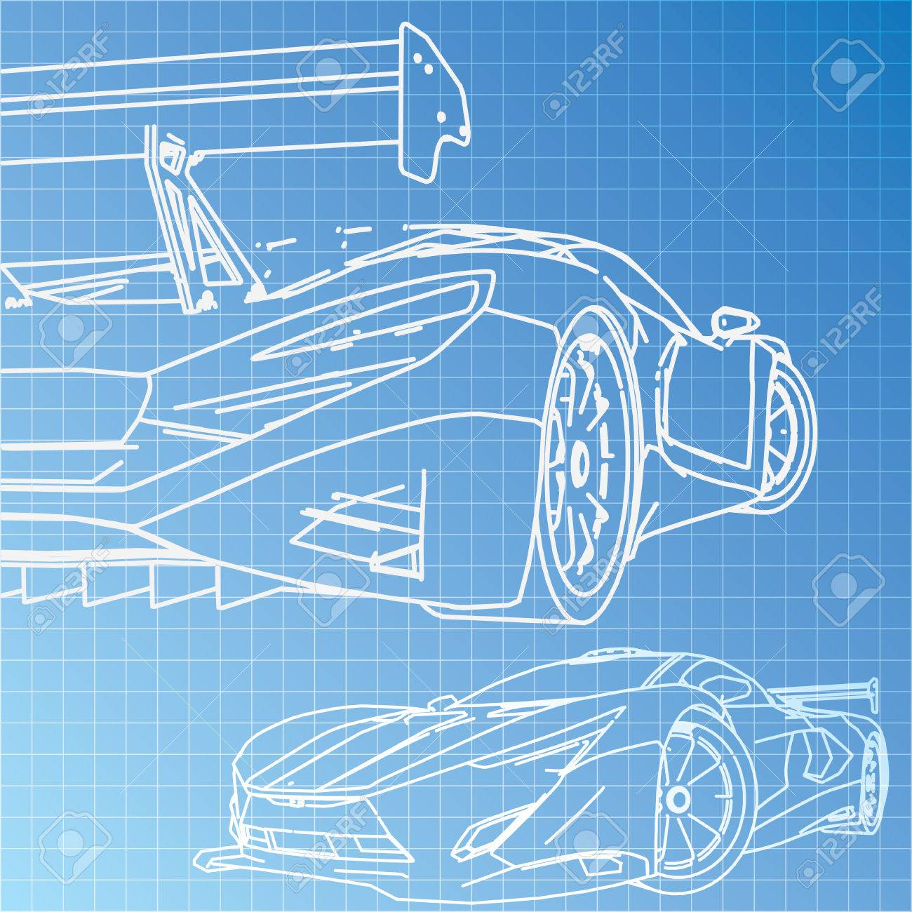 Sports car sketch blueprint royalty free cliparts vectors and sports car sketch blueprint stock vector 29228925 malvernweather Gallery
