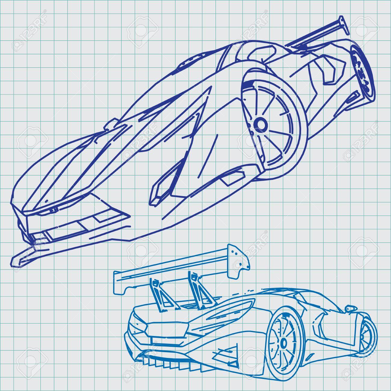 Sports car sketch blueprint royalty free cliparts vectors and sports car sketch blueprint stock vector 29228864 malvernweather Choice Image