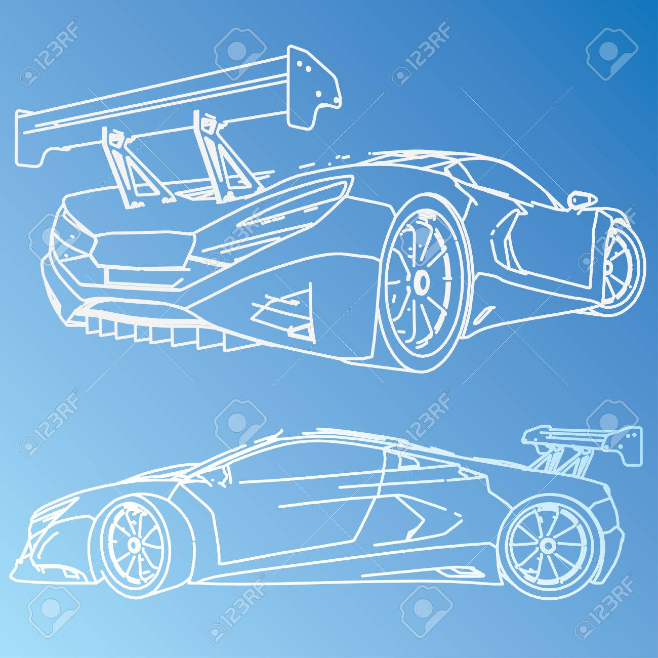 Sports car sketch blueprint royalty free cliparts vectors and sports car sketch blueprint stock vector 29228927 malvernweather Images