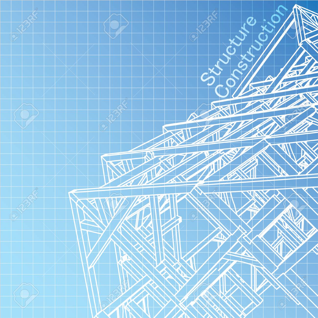 Vector of Blue print architect Stock Vector - 29229097