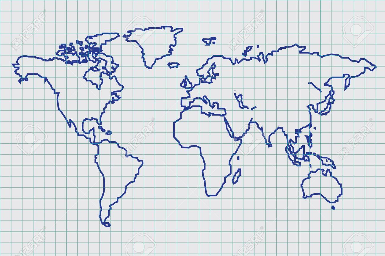 Vector of blue print world map royalty free cliparts vectors and vector of blue print world map stock vector 29229111 gumiabroncs Image collections