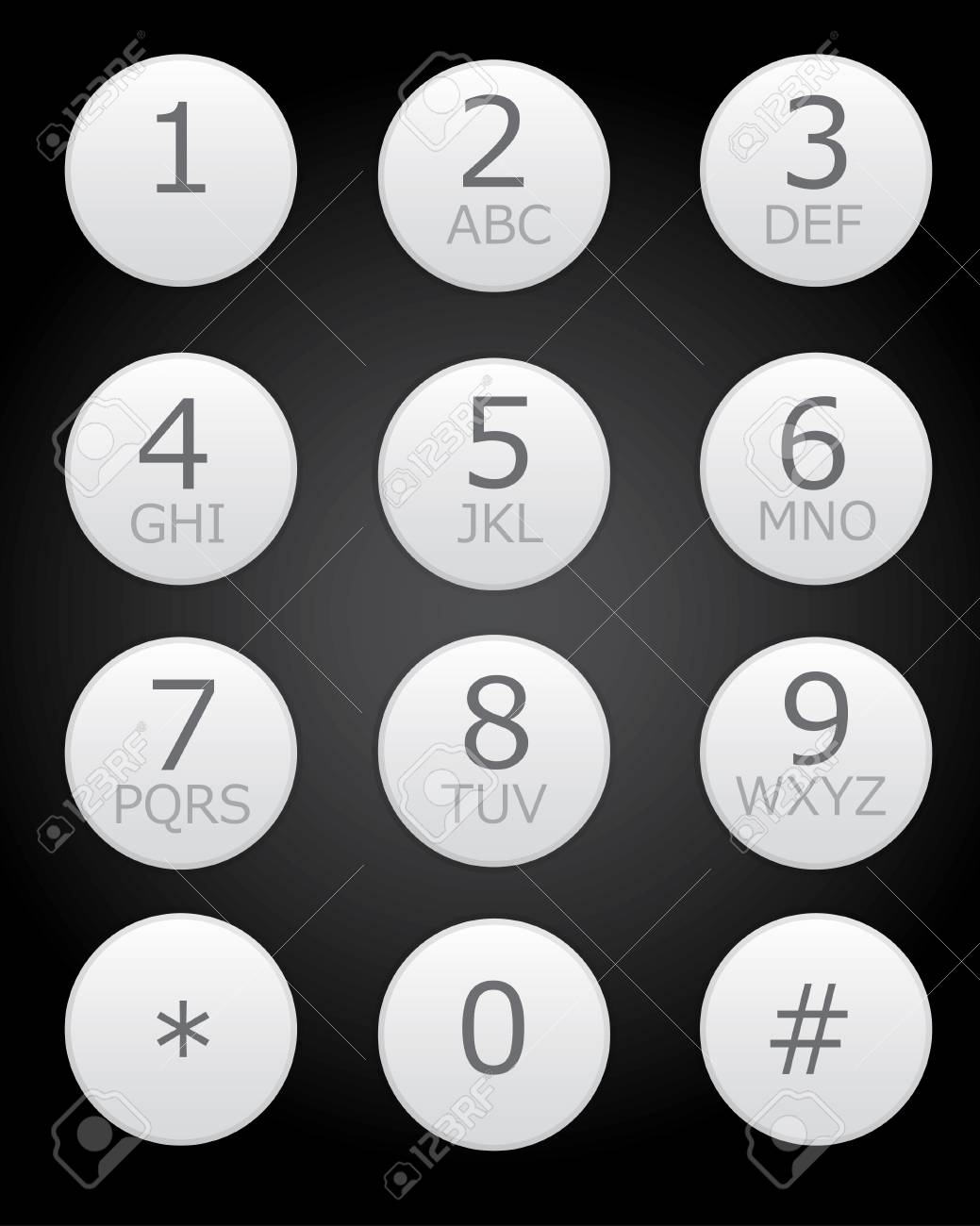 Keypad For Telephone Royalty Free Cliparts Vectors And Stock