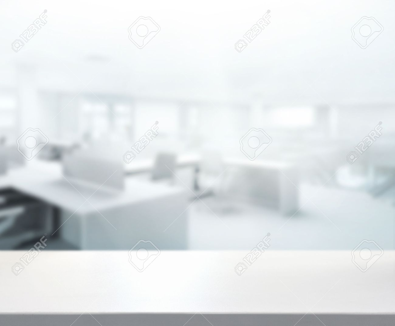 Table Top And Blur Office Of Background Stock Photo Picture And