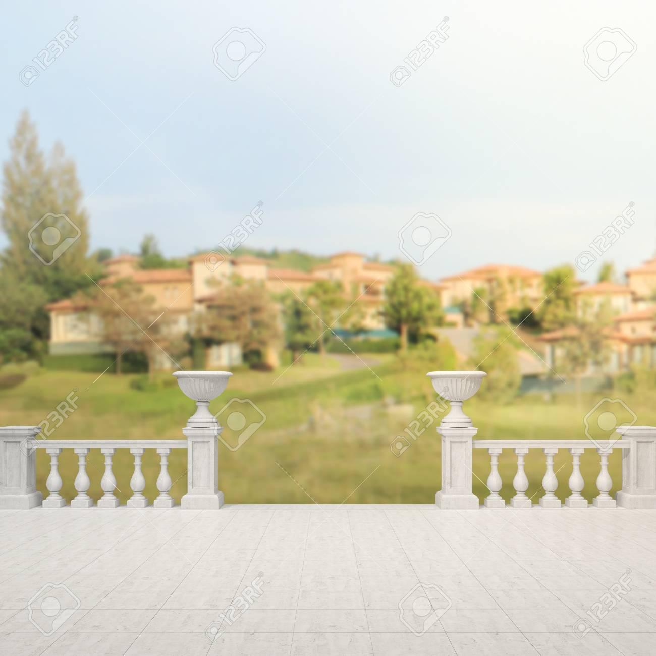 Balcón Y Terraza De La Falta De Definición De Fondo Exterior