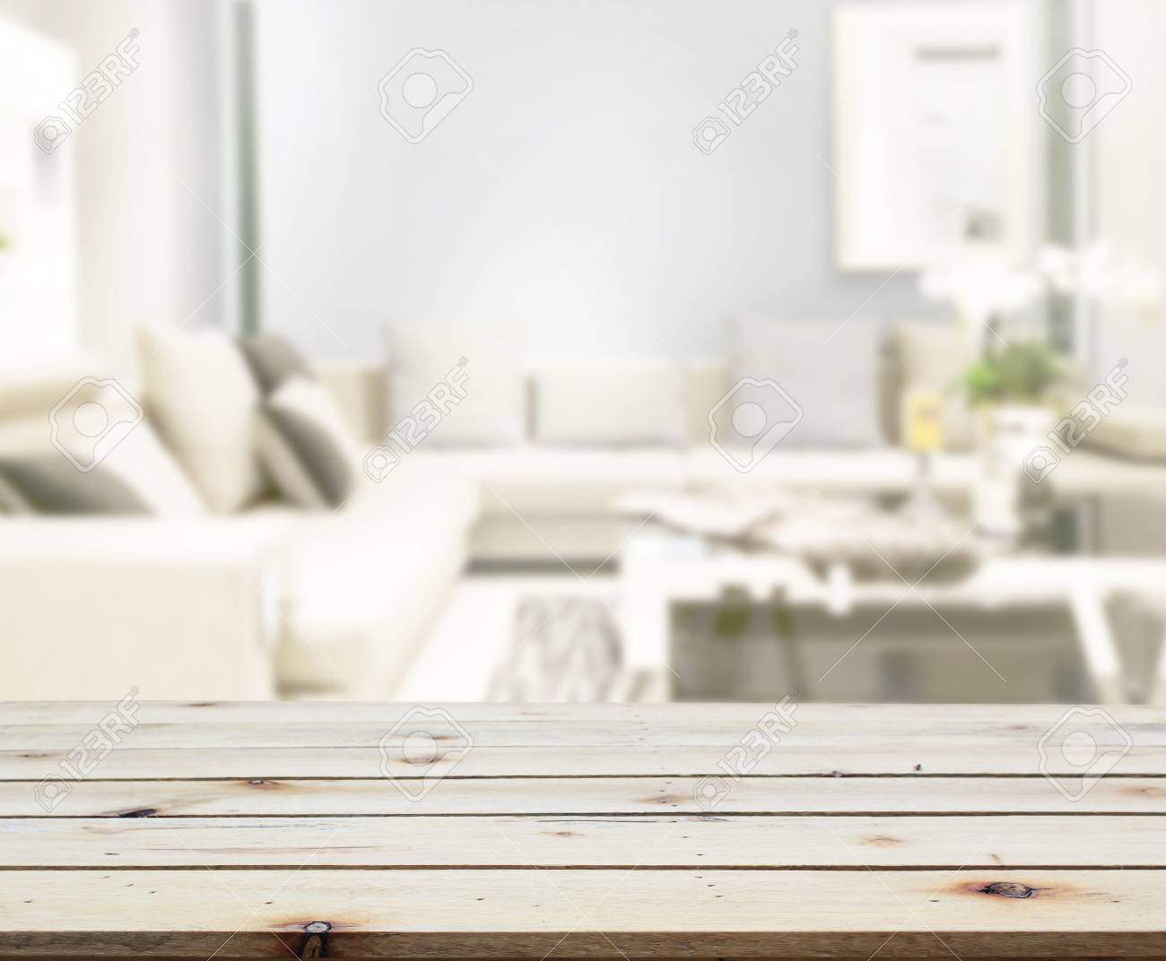 Table Top And Blur Living Room Of The Background Stock Photo Picture And Royalty Free Image Image 108938747