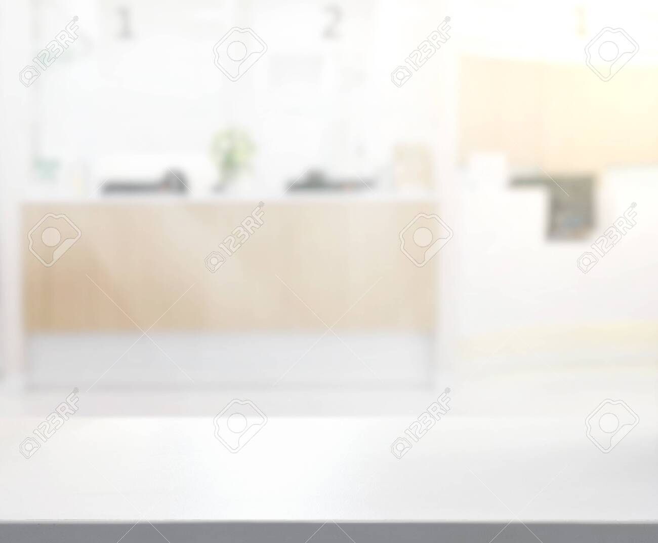 Table Top And Blur Office Of The Background - 135177654