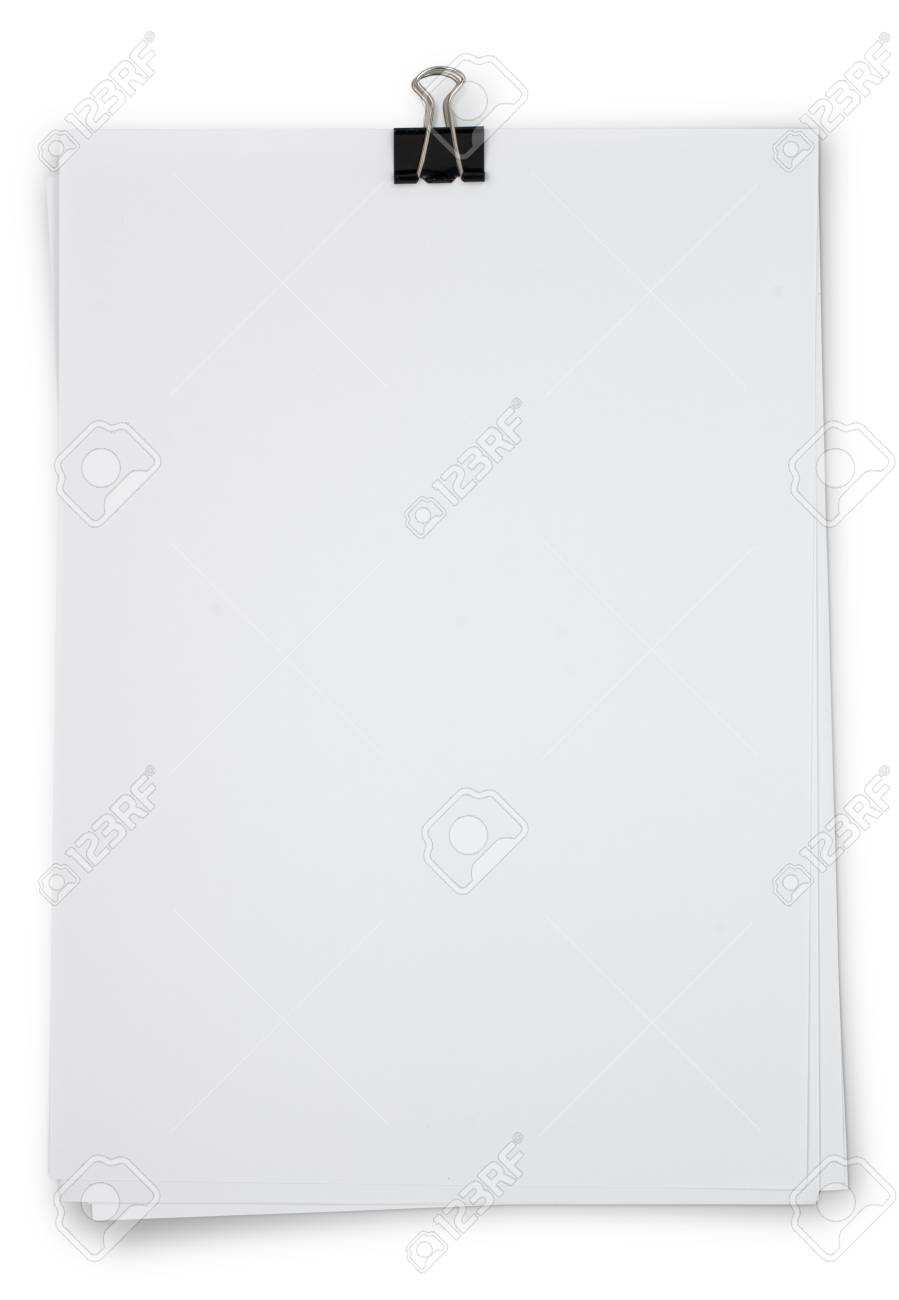 Bank white paper isolated Stock Photo - 15483906