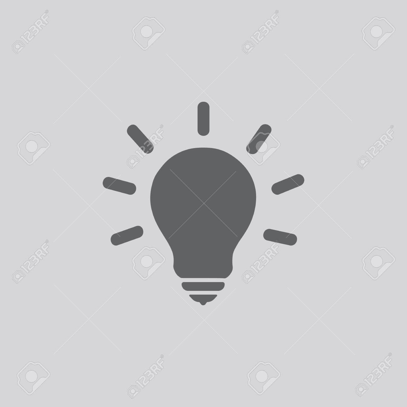Light Bulb Line Icon Vector Idea Sign Solution Thinking Concept Lighting Electric