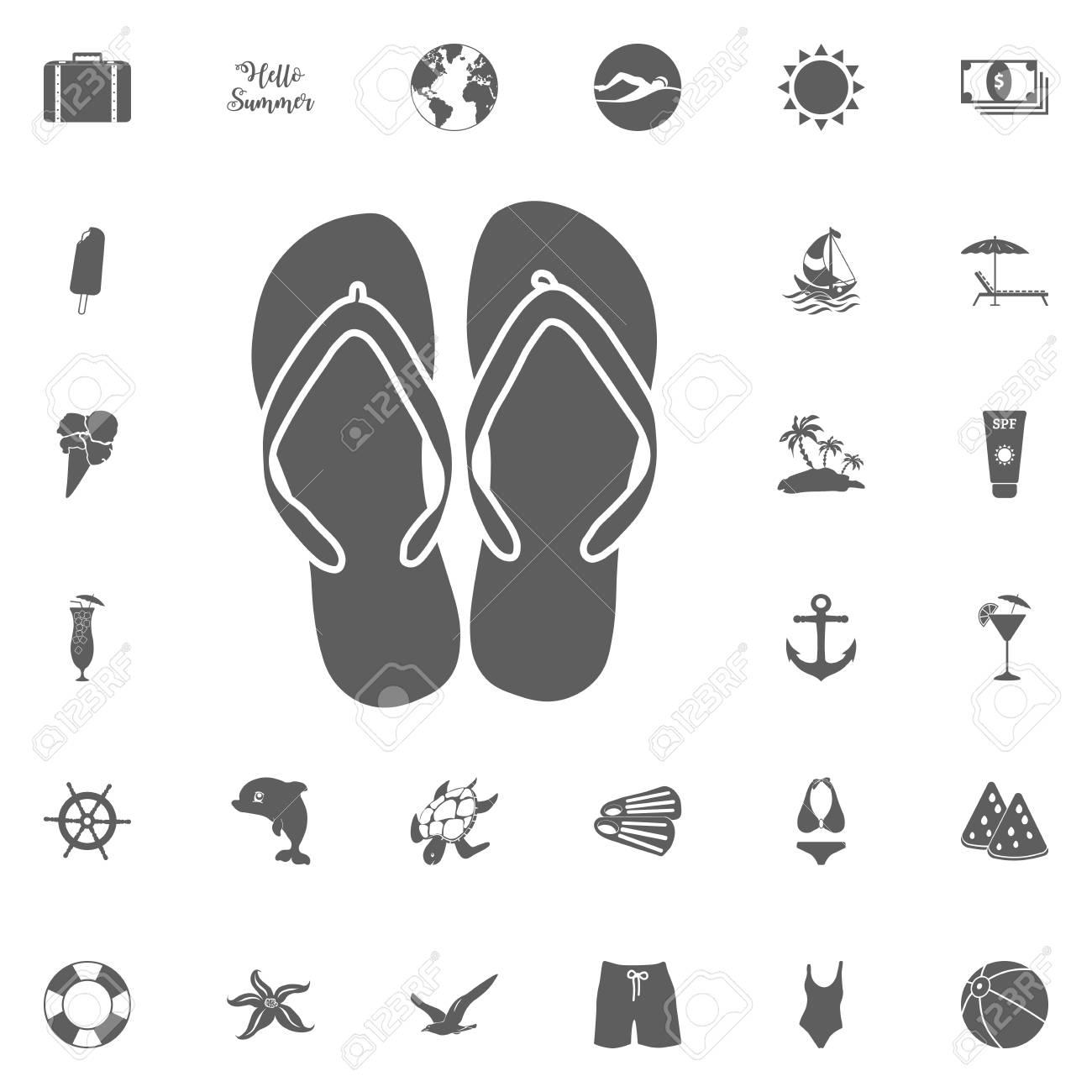 8e58d5c258b594 summer vacations vector illustration. Hello summer icon. Beach icon set. travel  icons set