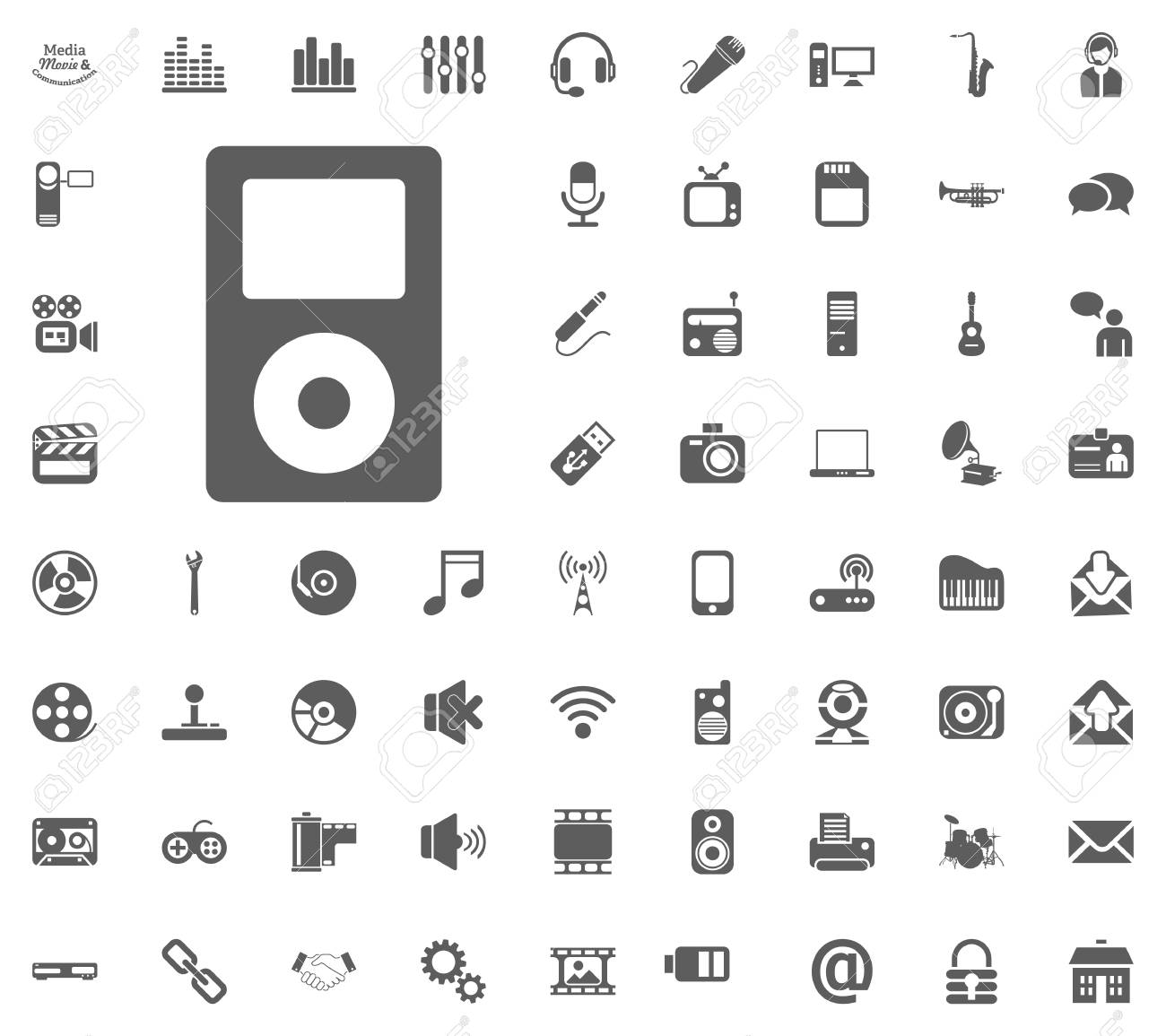 music player icon media music and communication vector illustration royalty free cliparts vectors and stock illustration image 94526170 music player icon media music and communication vector illustration
