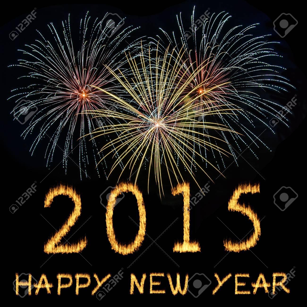 Frohes Neues Jahr 2015 Feier Mit Text Auf Glänzenden Buntes ...