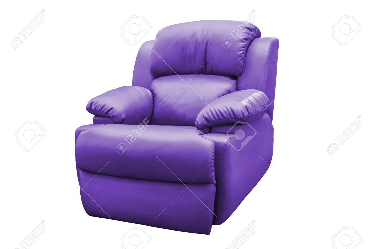 Swell Purple Leather Armchair Isolated On White Background With Clipping Beatyapartments Chair Design Images Beatyapartmentscom