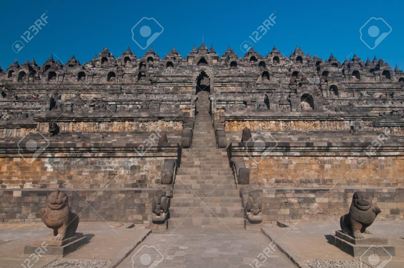 Borobudur temple at sunny morning  Central Java, Indonesia Stock Photo - 12883759