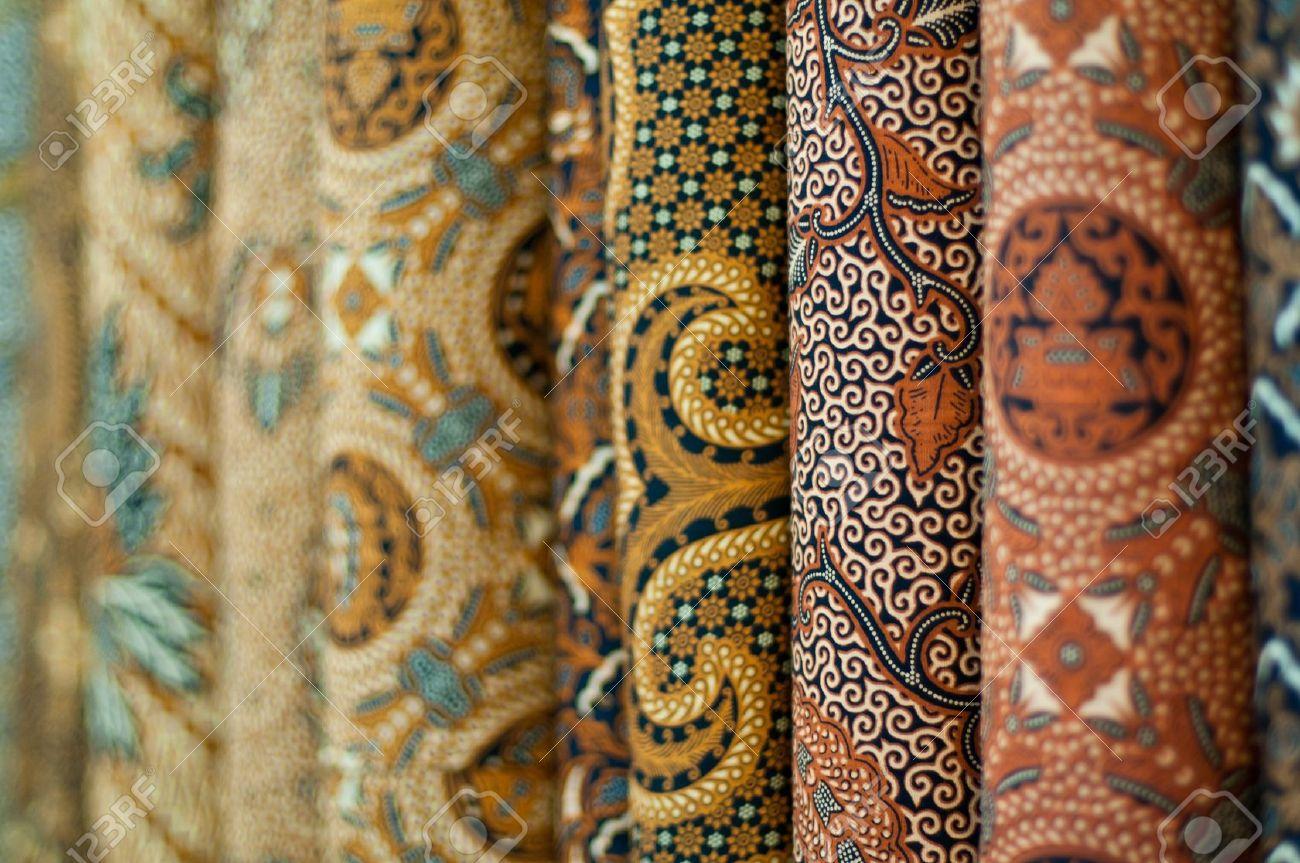 Closeup Of Colorful Batik Yogyakarta Central Java Indonesia