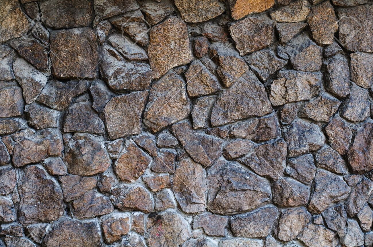 Rough Stone Wall Background. High Resolution Texture Stock Photo ...