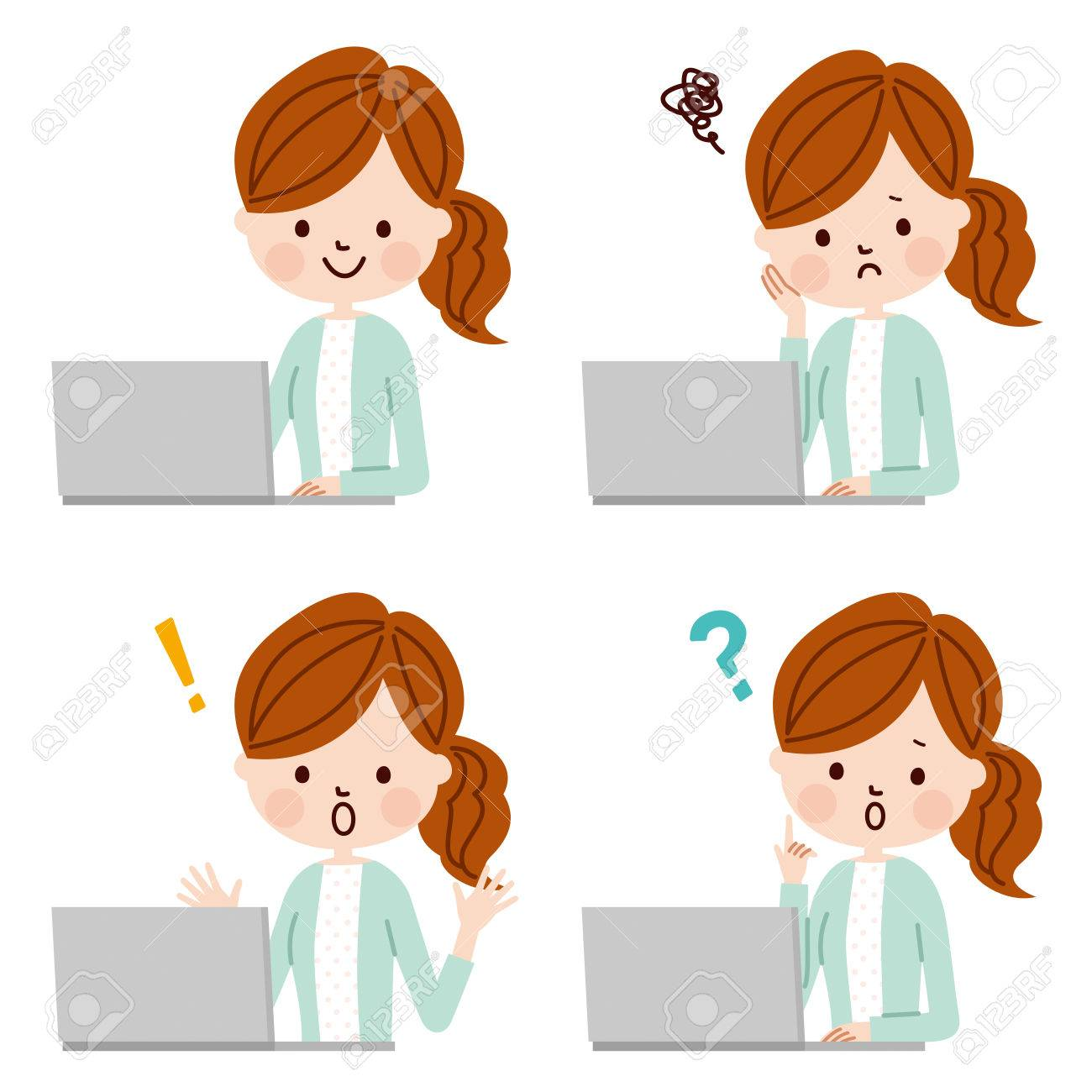 Young woman using laptop computer - 50903003