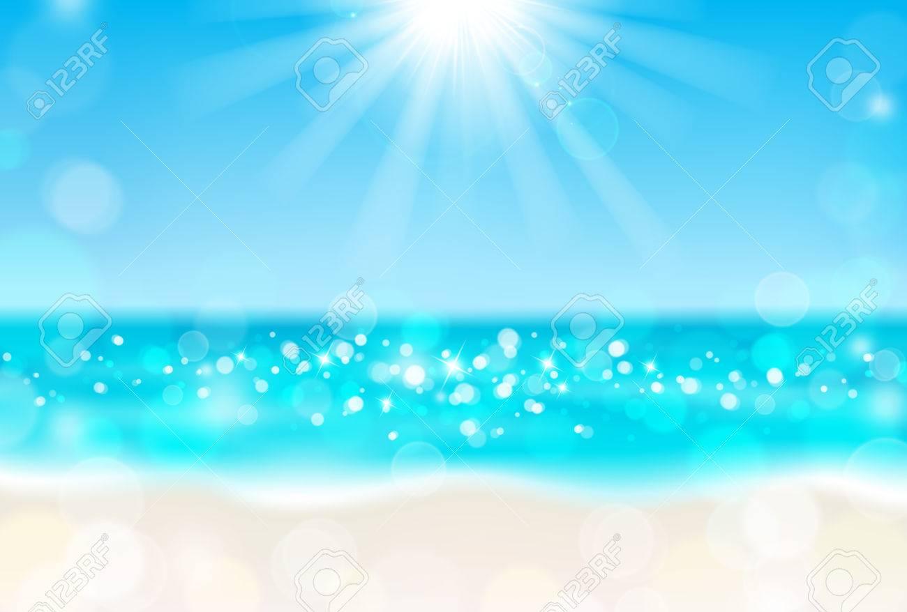 Shining sun on the beach - 57937404