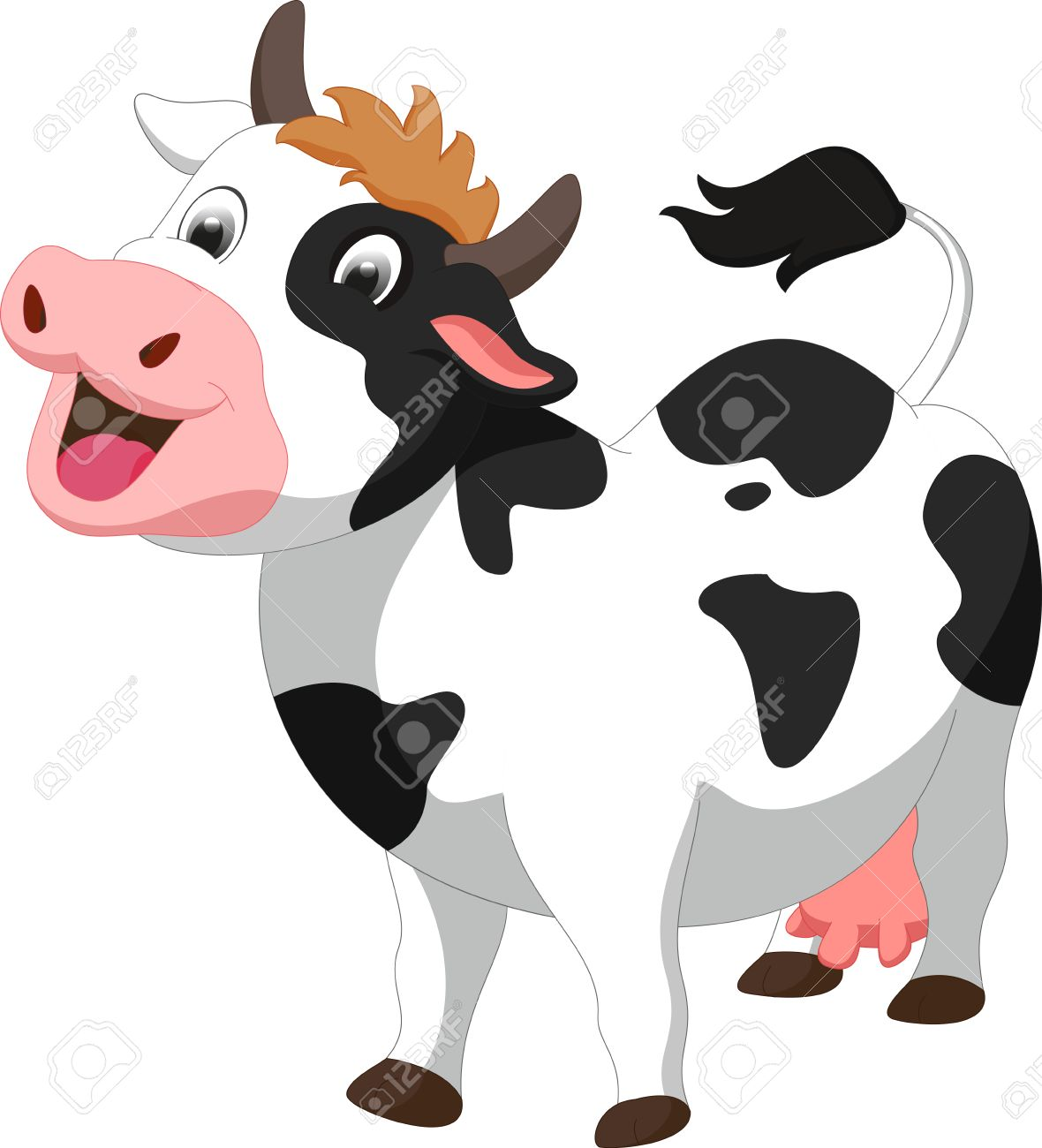 cute cow cartoon royalty free cliparts vectors and stock
