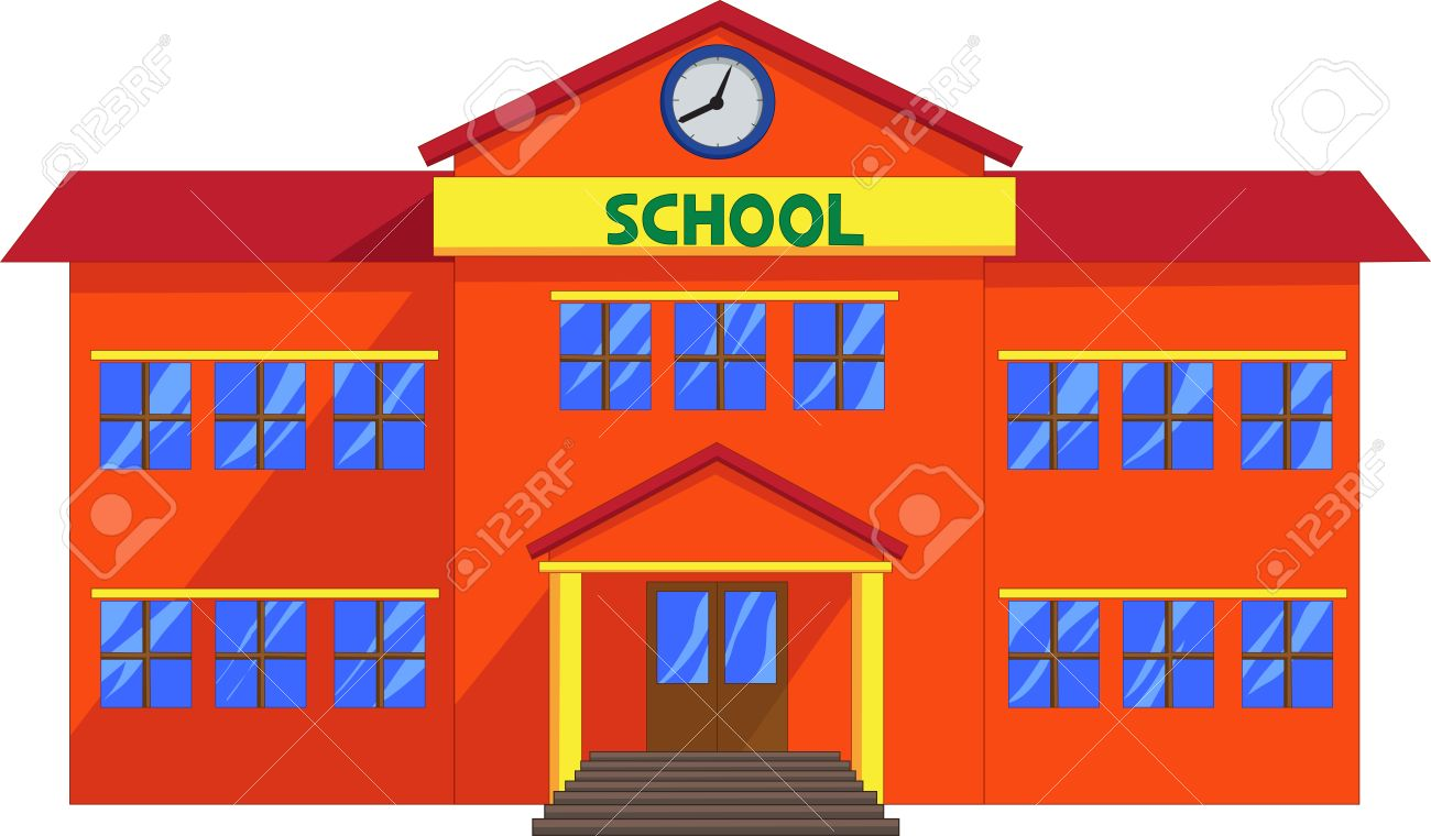 cartoon school building royalty free cliparts vectors and stock rh 123rf com clipart school building black and white free clipart pictures school buildings