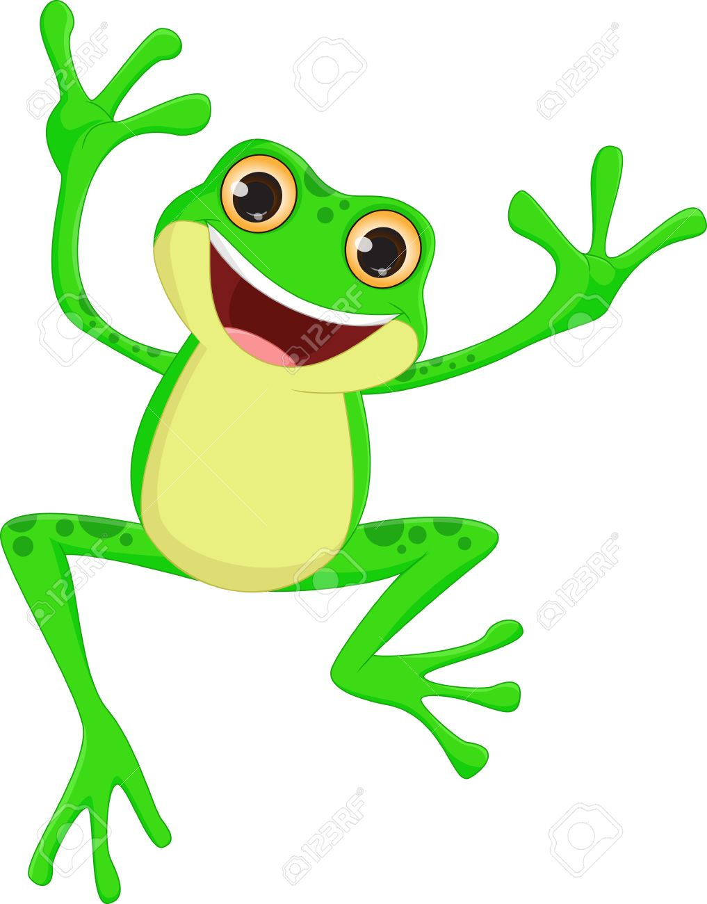 happy frog cartoon jumping royalty free cliparts vectors and stock rh 123rf com Group Hopping Frogs All Frogs