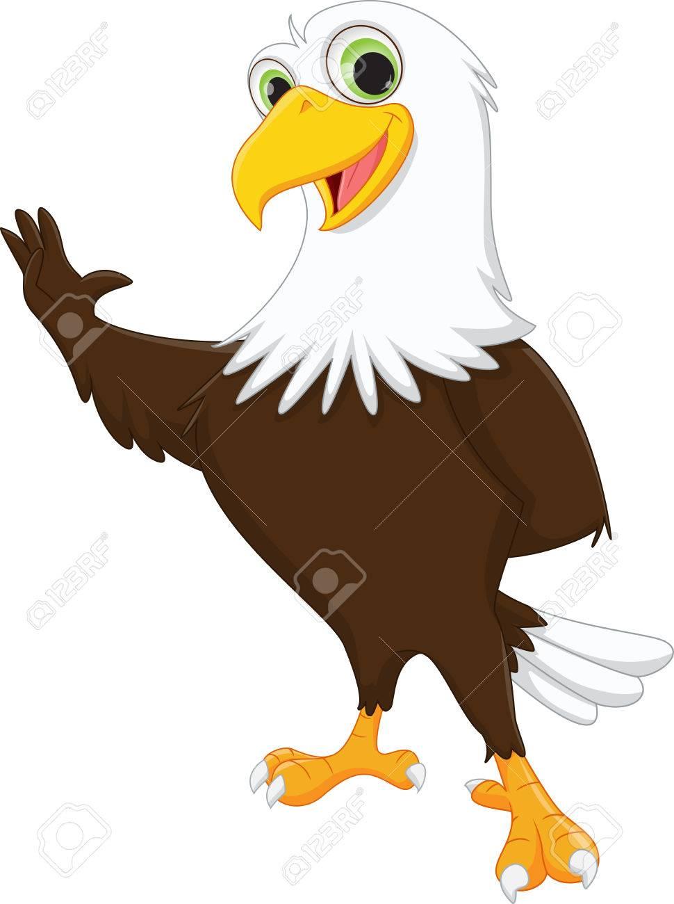 cute eagle cartoon waving hand royalty free cliparts vectors and rh 123rf com baby eagle cartoon images eagle cartoon pictures free