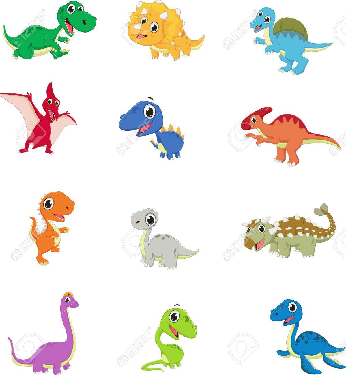 Dinosaurios Lindo Conjunto De Recopilacion De Dibujos Animados Ilustraciones Vectoriales Clip Art Vectorizado Libre De Derechos Image 61041288 Dinosaurios para dibujar, dinosaurios imagenes, dinosaurios para niños, actividades de dinosaurios, dinosaurios. dinosaurios lindo conjunto de recopilacion de dibujos animados