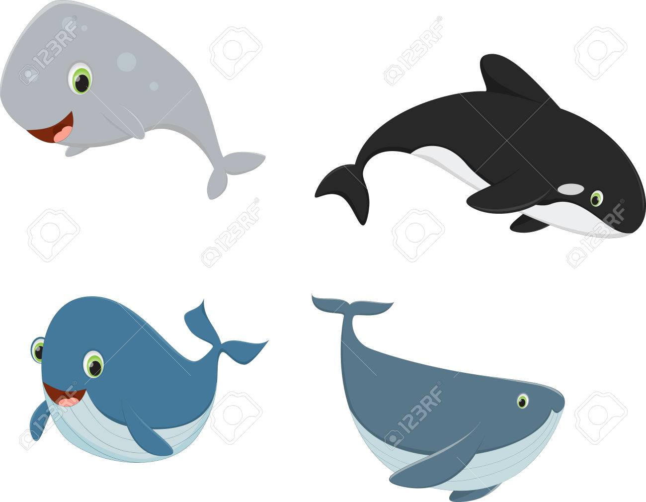 four cartoon whales royalty free cliparts vectors and stock rh 123rf com Cartoon Turtle cartoon whales pictures