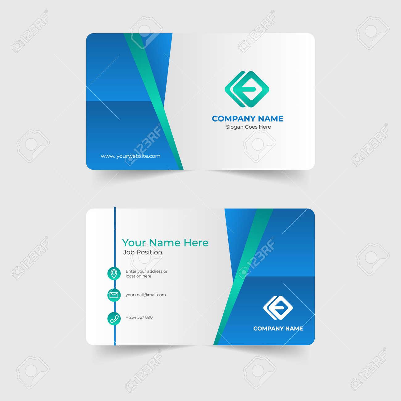 Corporate modern business card template - 168557593