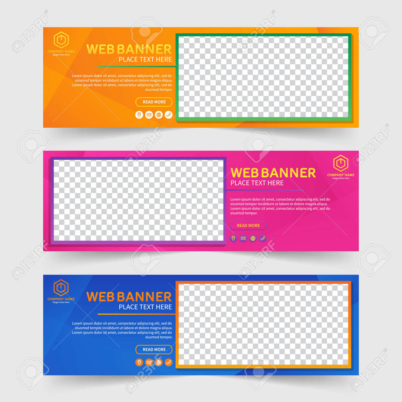 Colorful abstract web banner - 168557753