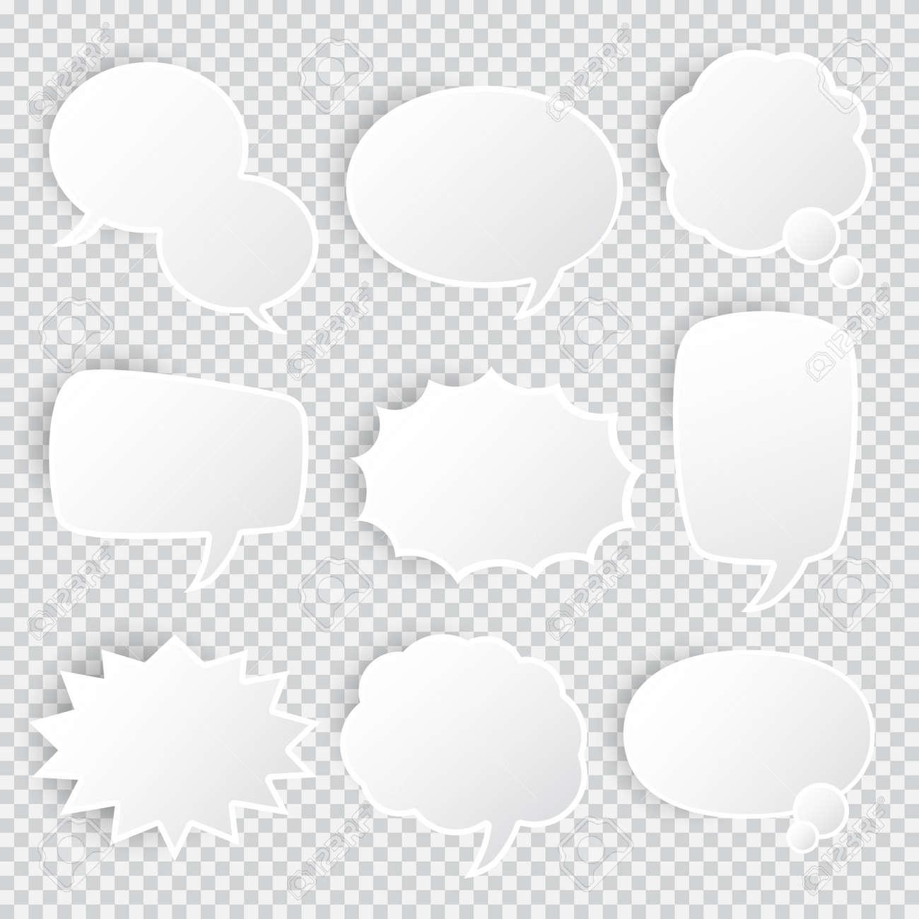 Set of empty realistic comic bubbles - 168591357