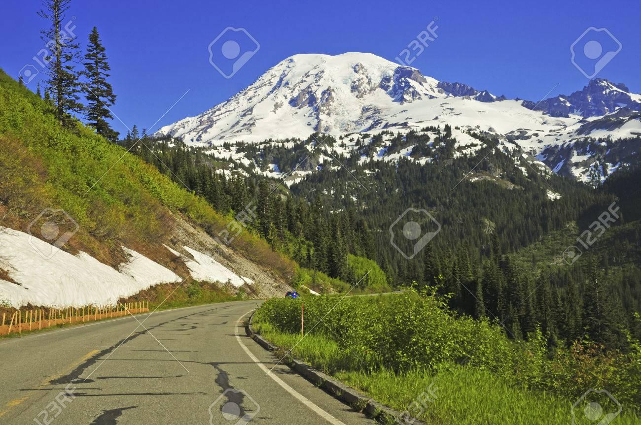 レーニア山、カスケード山脈、ワ...