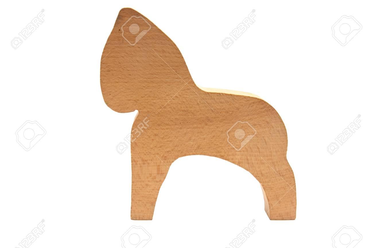 Cavallo Di Legno Giocattolo.Immagini Stock Poco Giocattolo Cavallo Di Legno Isolato Su Sfondo