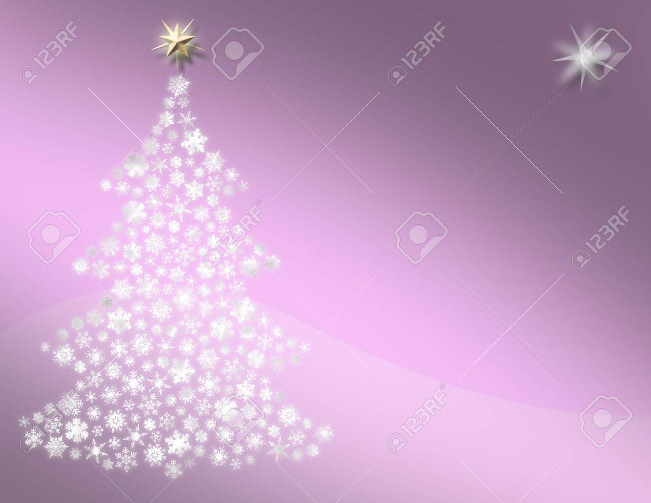 Sweet Pink Christmas Tree Background Stock Photo Picture And