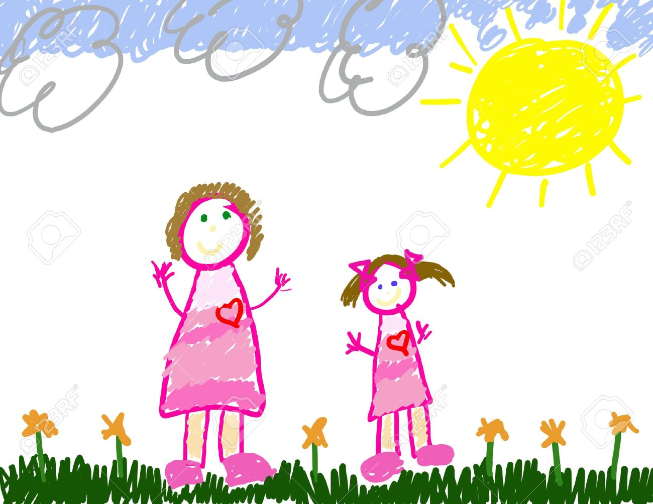 Uncategorized Child Drawing childs drawing of me mom stock photo picture and royalty free 2600115