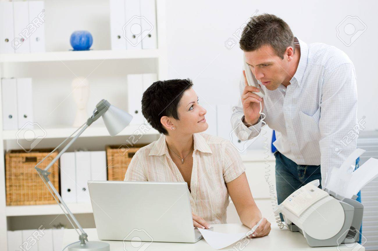 Happy couple working at home office running small business. Stock Photo - 3916176