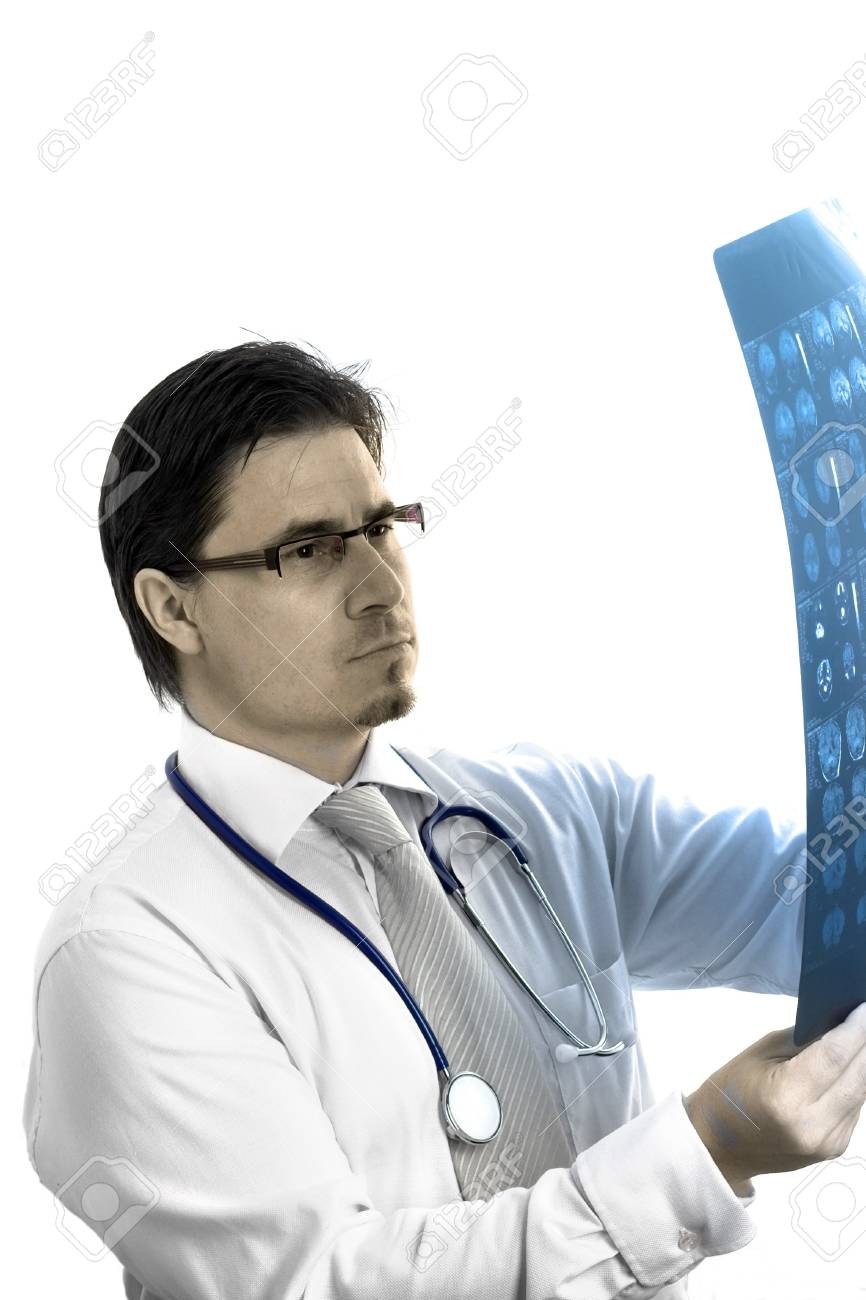 Portrait of mid-adult male medical doctor. Stock Photo - 4175654