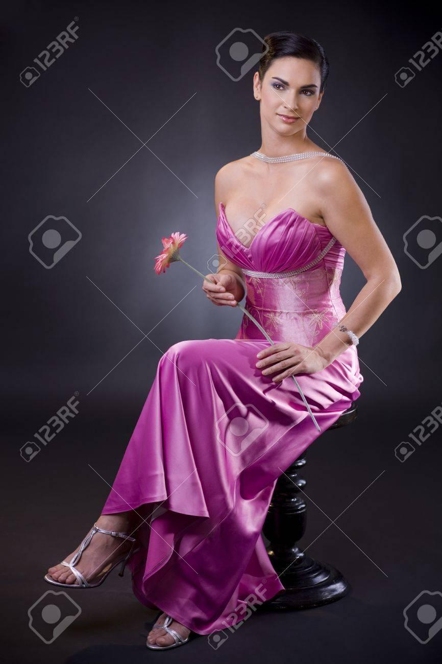 Dorable Vestido De Fiesta Púrpura Atractiva Cresta - Vestido de ...