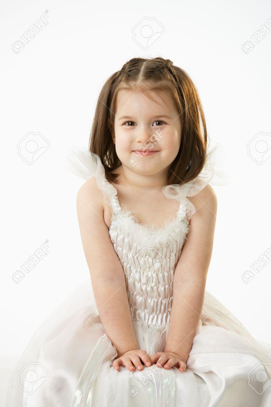75f4d56ae08b Portrait Of Cute Little Girl (4-5 Years) Wearing Ballet Costume ...