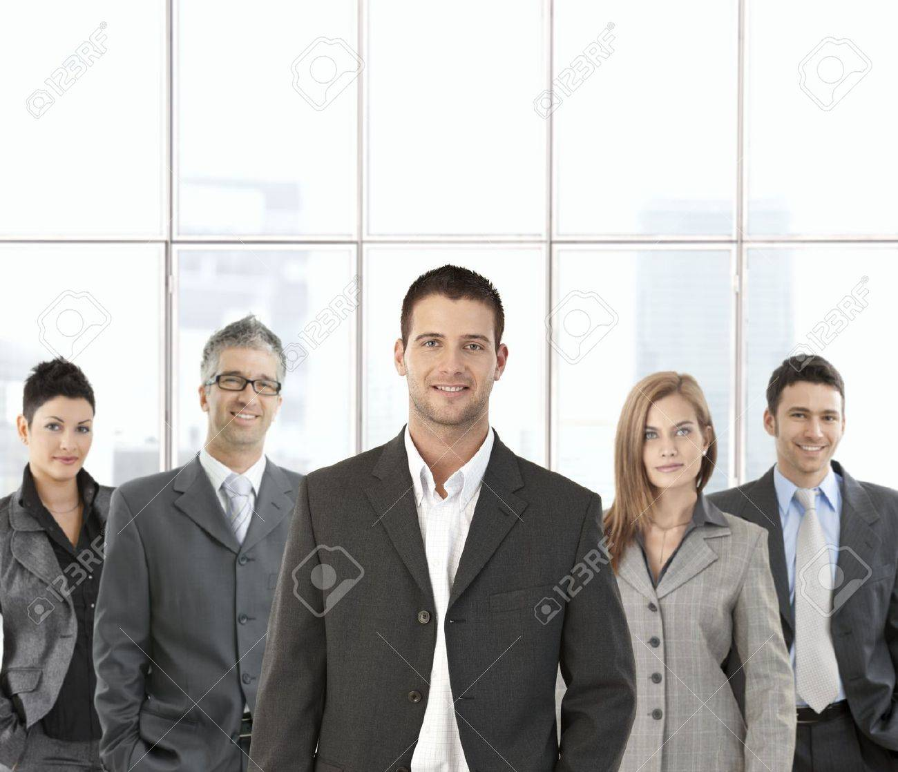 Portrait of successful business team in office. Stock Photo - 8746972