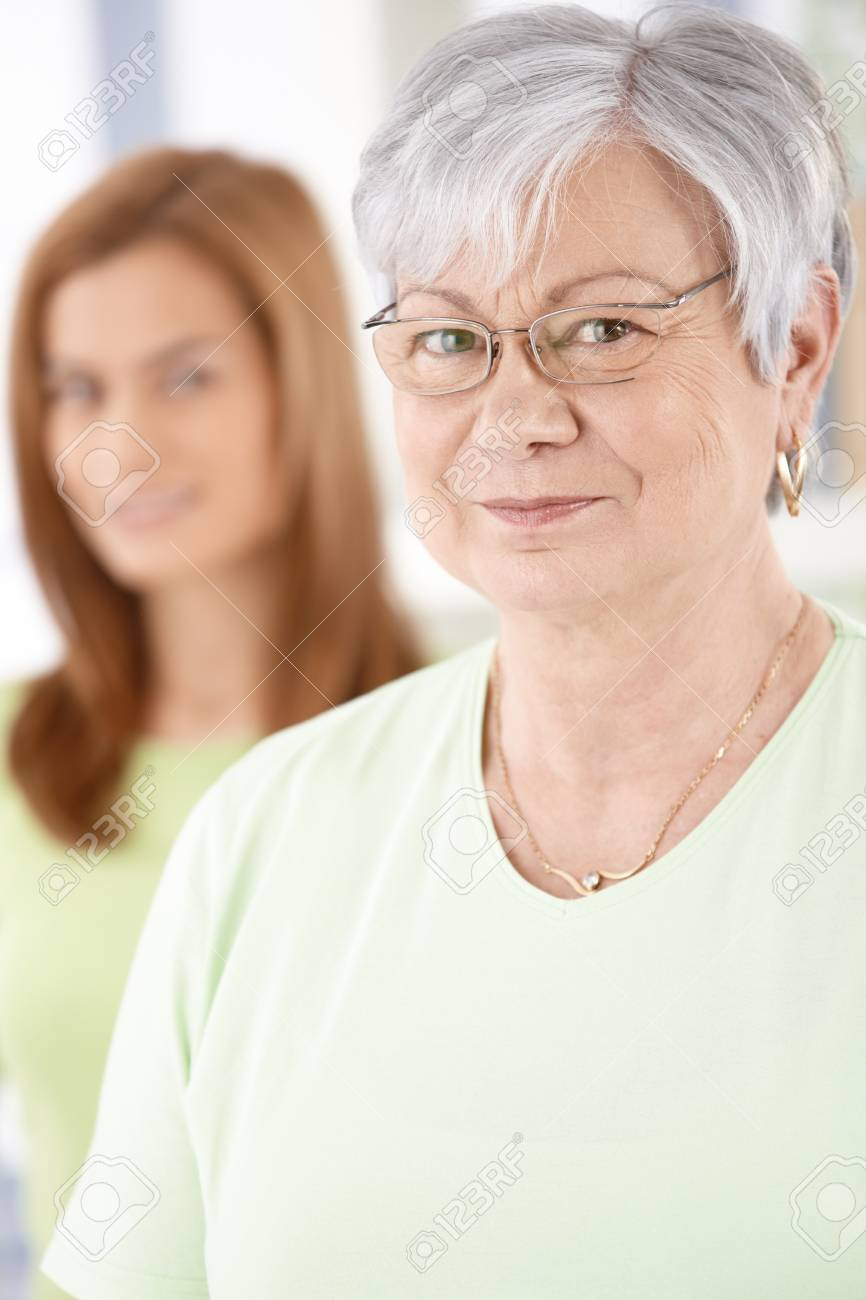 Portrait of elderly female smiling, looking at camera. Stock Photo - 9209127