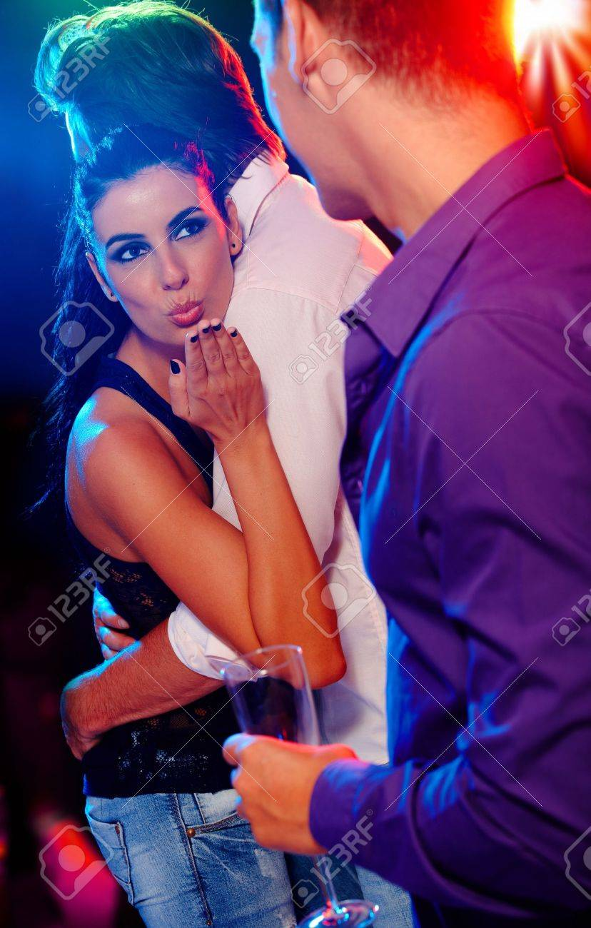Wife Flirting At Club